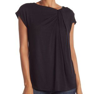 Bobeau Grecian Twist Short Sleeve Tee